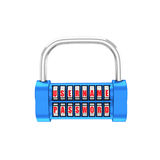 The padlock - username, password. 3d illustration on a white bac Stock Image