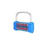The padlock - username, password. 3d illustration on a white bac Stock Photo