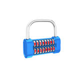 The padlock - username, password. 3d illustration on a white bac Stock Images