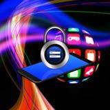 Padlock username password on smartphone,cell phone illustration vector illustration