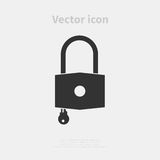 Padlock vector icon Royalty Free Stock Photos