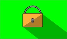 Padlock. Vector illustrator design  illustrator on green backgroud Stock Image