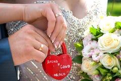 Padlock wedding Royalty Free Stock Image