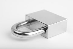 Padlock on white Royalty Free Stock Photos