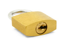 Padlock on white Stock Images