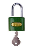 Padlock on white Royalty Free Stock Image