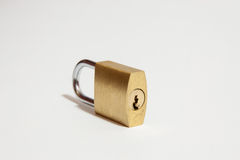 Padlock on a white background Stock Photo