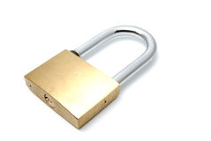 Padlock on a white background Royalty Free Stock Image