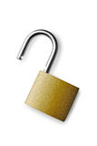 Padlock on a white background Royalty Free Stock Images