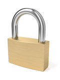 Padlock. On white background. Computer generated image with clipping path Stock Image