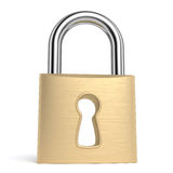 Padlock. On white background. Computer generated image with clipping path Stock Images