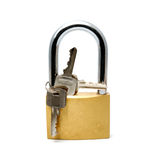 Padlock on a white background Stock Images