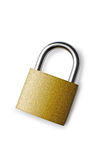 Padlock on a white background in the middle Royalty Free Stock Photos