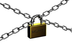 Padlock with word security Royalty Free Stock Images