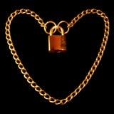 Padlocked сердце Стоковая Фотография RF