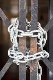 Padlocked Blendenverschluss-freies Geschäft Lizenzfreies Stockfoto