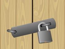 Padlocked dörr Fotografering för Bildbyråer