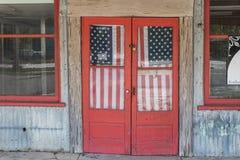 Padlocked door stock image