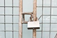 Padlocked gate Royalty Free Stock Photo