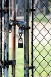 Padlocked gate Royalty Free Stock Photos