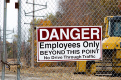 Danger work area Royalty Free Stock Photography