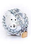Padlocked piggy bank Stock Image