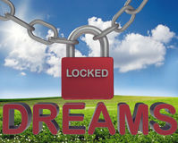 Padlocking dreams concept Royalty Free Stock Photography