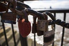 Padlocks влюбленности Стоковое Изображение RF