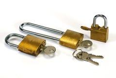 padlocks ключа Стоковые Изображения RF