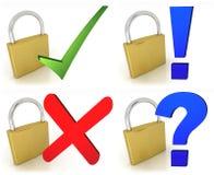 padlocks символы Стоковая Фотография RF