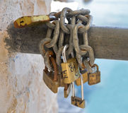 Padlocks. stock image