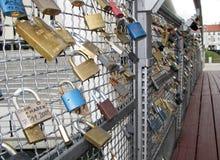 padlocks влюбленности Стоковые Изображения RF