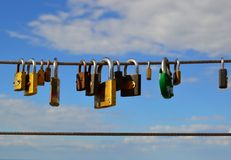 Padlocks. As a sign of eternal love Stock Photography