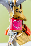 Padlocks as a symbol for love Stock Image