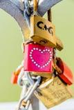 Padlocks as a symbol for love Stock Image