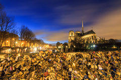 Padlocks blue hour Royalty Free Stock Photography