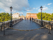 Padlocks Bridge in Rome Stock Photos