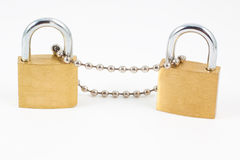 Padlocks with chain Royalty Free Stock Photography