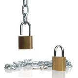 Padlocks and chain Stock Images