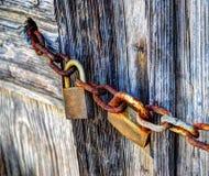 Padlocks and chain Stock Photos