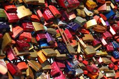 Padlocks, Completed, Castles, Love Royalty Free Stock Photos