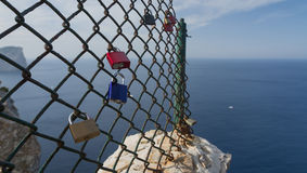 Padlocks on Formentor Stock Photos
