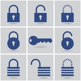 Padlocks. Icons padlocks. vector set. eps10 Stock Photos