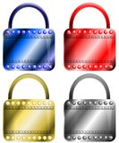 Padlocks. Illustration representing a set of colorful decorated padlocks Royalty Free Stock Image