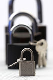 Padlocks and keys Stock Photography
