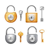 Padlocks And Keys Realistic Set Royalty Free Stock Photo