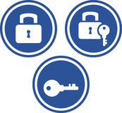 Padlocks and keys - Vector icons Royalty Free Stock Photos