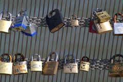 Padlocks in Le Pont des Arts 1 Stock Photo