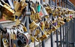 Padlocks of love - Trevi Fountain - landmark attraction in Rome, Italy Royalty Free Stock Photography