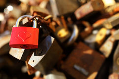 Padlocks with love lock Royalty Free Stock Photos